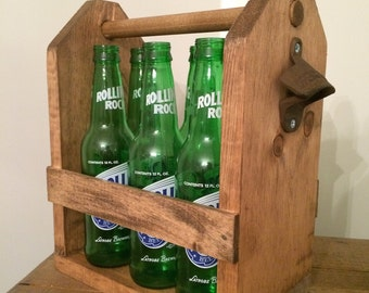 Wooden Beer Caddy #3 - Medium Stain