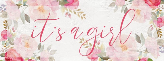 Pink Floral Facebook Event Cover Photo Floral Baby Shower Etsy
