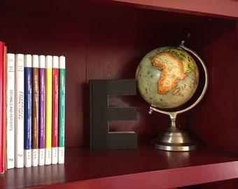 Letter E Monogram Book Bookshelf Decor Great Gift Idea