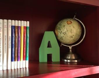 Letter A Monogram Book Bookshelf Decor Great Gift Idea