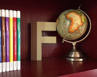 Letter F Monogram Book Bookshelf Decor Great Gift Idea