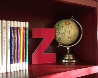 Letter Z Monogram Book Bookshelf Decor Great Gift Idea
