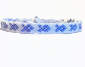 Esophageal Cancer Embroidery Macrame Awareness Bracelet