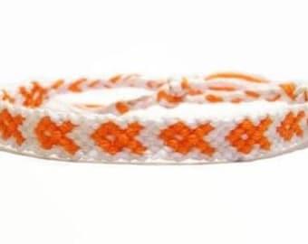 Multiple Sclerosis Awareness Embroidery Macrame Bracelet