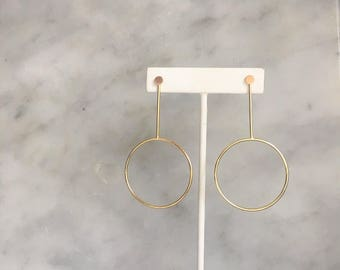 The Changeable Stud Hoop in Gold Fill