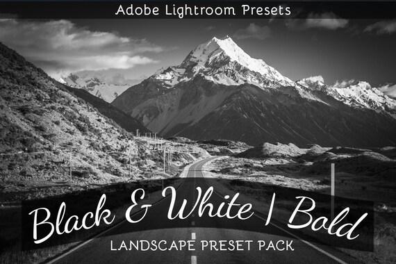Bianco E Nero Paesaggio Grassetto Lightroom Preset Pack