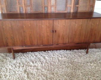Danish Rosewood Credenza : Danish rosewood credenza display cabinet by brouer sold
