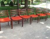 Arne Vodder Finn Juhl Eames Rosewood Dining Chairs