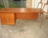 Danish Mid Century Modern Teak Small Low Desk by Finn Juhl