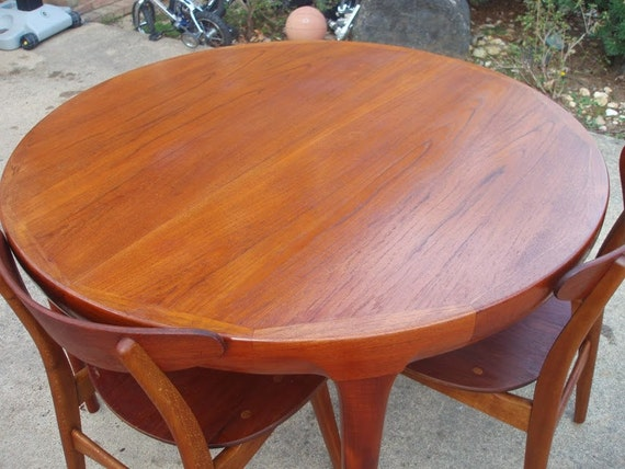 Danish Teak Dining Table By Kofod Larsen Faarup Etsy