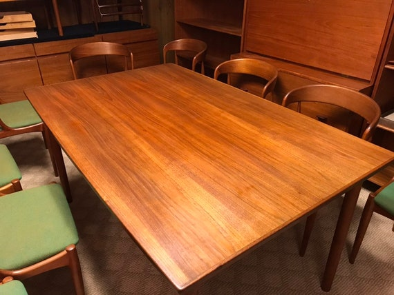 Randers Danish Modern Teak Expanding Dining Table