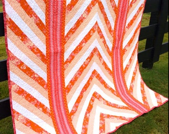 PDF Pattern- Waves of Hope; easy quilt