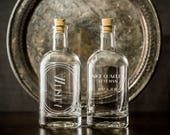 Personalized Etched Spirit Decanter-Home bar or bar cart essentials for the drinking enthusiast-Custom gifts for Valentines Day/Wedding/Dads