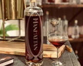 Manhattan Cocktail Decanter - Pre-batch your favorite drink for the perfect pour at parties, style your bar cart or home bar, great gift!