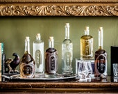 The Variance Set of 6-Etched Glass Spirit Decanters-Style your home bar, bar cart or give a gift to the drinking enthusiasts in you life.