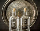 Personalized Etched Spirit Decanter for Father's Day-Home bar or bar cart essentials for the drinking enthusiast-Custom gifts for Dads