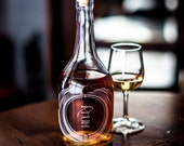 Rhum - The Variance Individual bottles-Etched Glass Spirit Decanters-for a home bar liquor cabinet or bar cart, for a sophisticated drinker