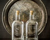"NEW ""Inebriated Intentions"" Decanter Series ""Dance""- For a lover of the home bar, cocktails and personalized romance. Great Valentines Gift"