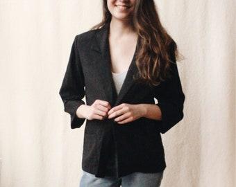 Vintage rayon blazer jacket / Minimalist rayon jacket / Unstructured rayon blazer / Women's light rayon jacket / Business casual blazer