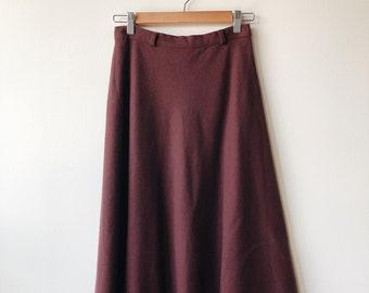 Vintage Wool Flare Skirt