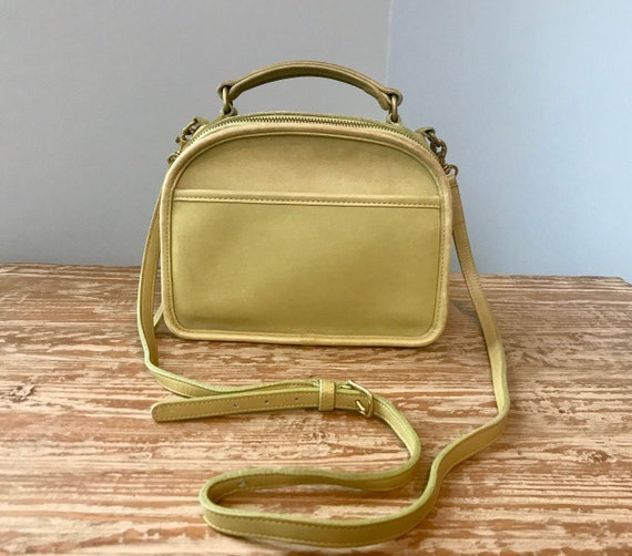 Vintage Coach Lime Top Handle Lunch Box Zip Bag/Gr