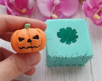 Pumpkin Mold 3D, Halloween, 4 cm, for Resin and Polymer Clay