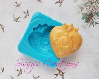 Spilla Sailor Moon, Stampo Sailor Moon,  Stampo Cuore, Stampo Spilla Sailor Moon, Stampo Resina, Stampo Cioccolatini, Stampo Alimentare