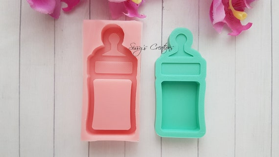Mold Silicone picture frame baby bottle Baby 7cm heart for plaster WEPAM porcelain clay K165 HK candle wax Fimo polymer clay