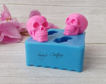 2 pcs Skull 3D Mold, 3 cm, for Resin and Polymer Clay