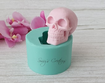 Skull 3D Mold, 5 cm, for Resin and Polymer Clay