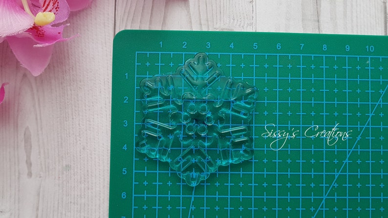 for Resin and Polymer Clay 5 cm Snowflake Mold