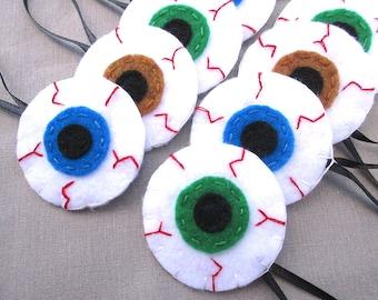 10 eyeball ornaments, halloween eye decorations, gory creepy eyes iris pupil bloodshot zombie cyclops spooky evil eye charm, horror gift