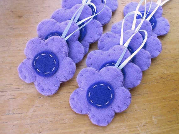 10 Lavender Daisy Ornaments Light Purple Wedding Decor Etsy