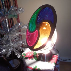 retro color wheelrotating light for aluminum christmas tree man in the moonrevolvingwith original box - Rotating Color Wheel For Christmas Tree