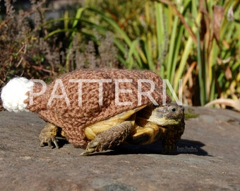 NEW crochet PATTERN instructions for Roasted Turkey cozy for tortoises