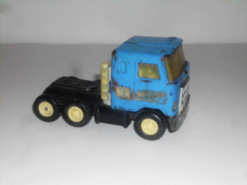 Vintage Buddy L Japan Blue metal die cast toy Semi Truck 1970/'s Buddy L   VT3098