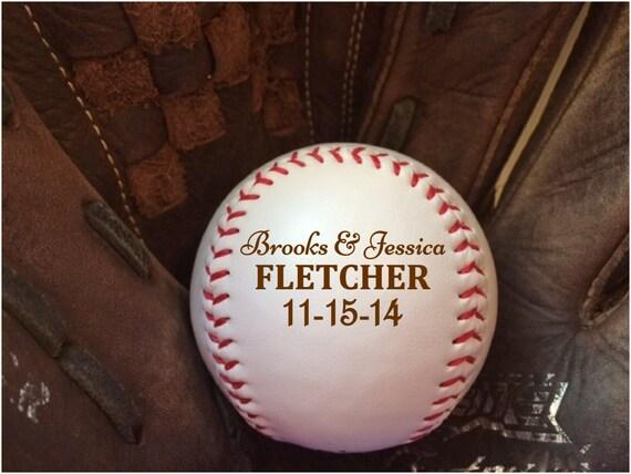 Baseball Wedding Gifts: Baseball Wedding Gift Groomsmen Gift Personalized Baseball