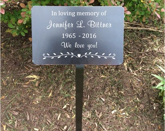 "memorial plaque, memorial tree marker, metal plaques, memorial garden, 7x5"" name plates, name tag, memorial tree, Garden Markers, Metal tags"