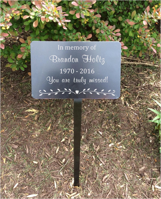 Good Garden Markers, Memorial Plaque, Metal Plaques, Name Plates