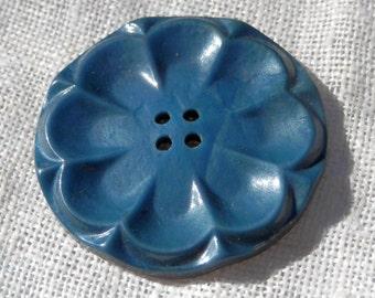 LG Blue Vintage Button