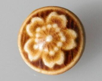 Studio Pottery STUNNING Vintage Button