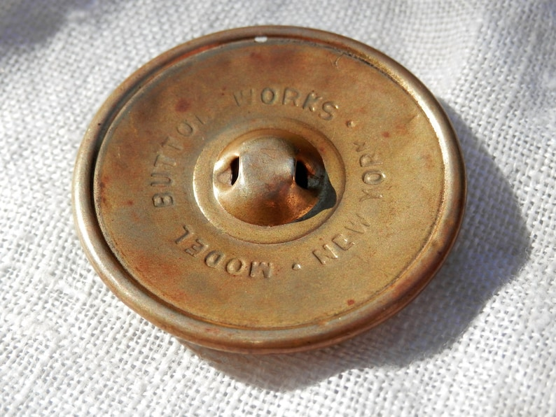 NEW YORK Button Works Backmarked Vintage Button Collectible Celluloid