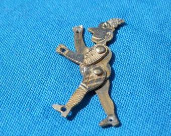 Tiny Vintage Articulated Puppet Man Pendant/Charm