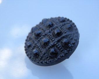 Black Glass Antique Button