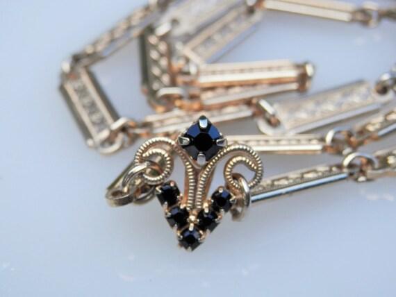 Vintage GF Chain Gemstones Bail
