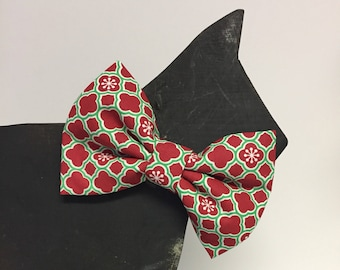 Christmas Dog Bow Tie Collar Accessory - Winter - Fall - Christmas - Holiday - Traditional