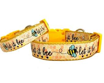 Sweet as can Bee Dog Collar, Bee Dog Leash, Bee Hive Dog Collar
