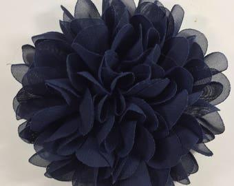 Dark Navy Summer - Spring - Flower - Chiffon - Dog Collar Accessory - Holiday - Gift - Pet Gift - Pretty - Fancy