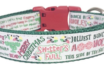 Christmas Vacation Inspired Dog Collar, Holiday, Pet Gift, Christmas Collar, Dog Gift, Handmade, Movie, Fun, Cute, Classic
