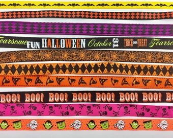 "Halloween 3/4 "" Dog Collar - Pet - Gift  - Holiday - Puppy - Handmade -"